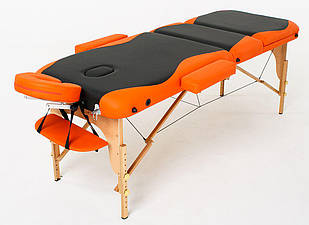 Масажний стіл дерев'яний 3-х сегментний RelaxLine Titan кушетка масажна для масажу