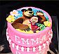 Вафельная картинка на торт Маша и Миша 0024, фото 5