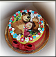 Вафельная картинка на торт Маша и Миша 0028, фото 2