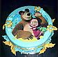 Вафельная картинка на торт Маша и Миша 0038, фото 2
