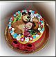 Вафельная картинка на торт Маша и Миша 005, фото 2