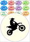 Вафельная картинка на торт мотоцикл, фото 2