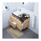 Шкаф с раковиной IKEA GODMORGON / TOLKEN / TÖRNVIKEN 102x49x72 см с ящиками беленый дуб антрацит 191.912.26, фото 2