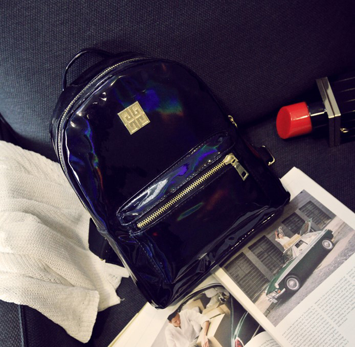 39e1124fdb77 Женский рюкзак стильный цвета черный хамелеон купить по выгодной ...