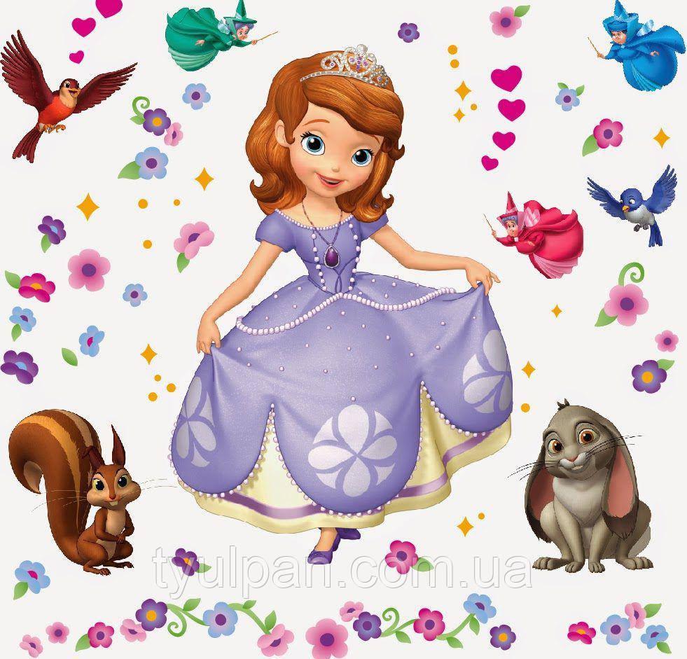 Вафельная картинка на торт София прекрасная 27