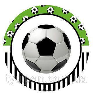 Вафельная картинка на торт спорт футбол мяч