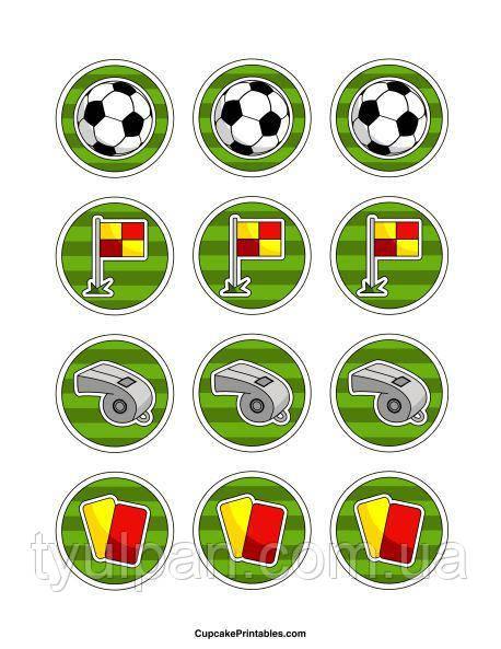 Вафельная картинка на торт спорт футбол 5