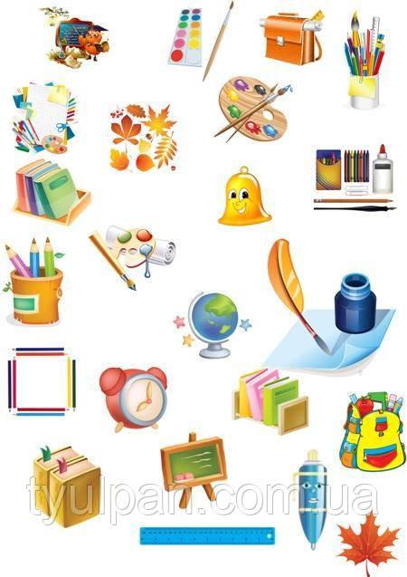 Вафельная картинка на торт школа  детский сад 002