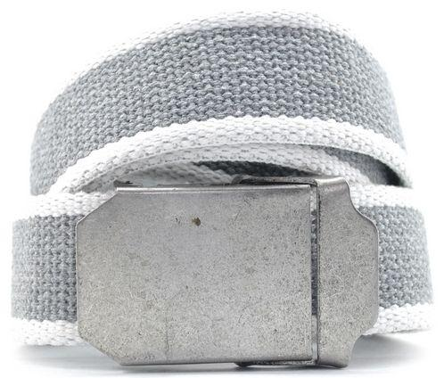 Тканевый мужской ремень Belstore t0215, серый, ширина 4 см