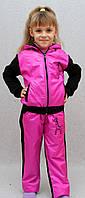 Теплый детский спортивный костюм розовый, фото 1