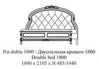 Кровать 1800 /кожа/ Flora Simex