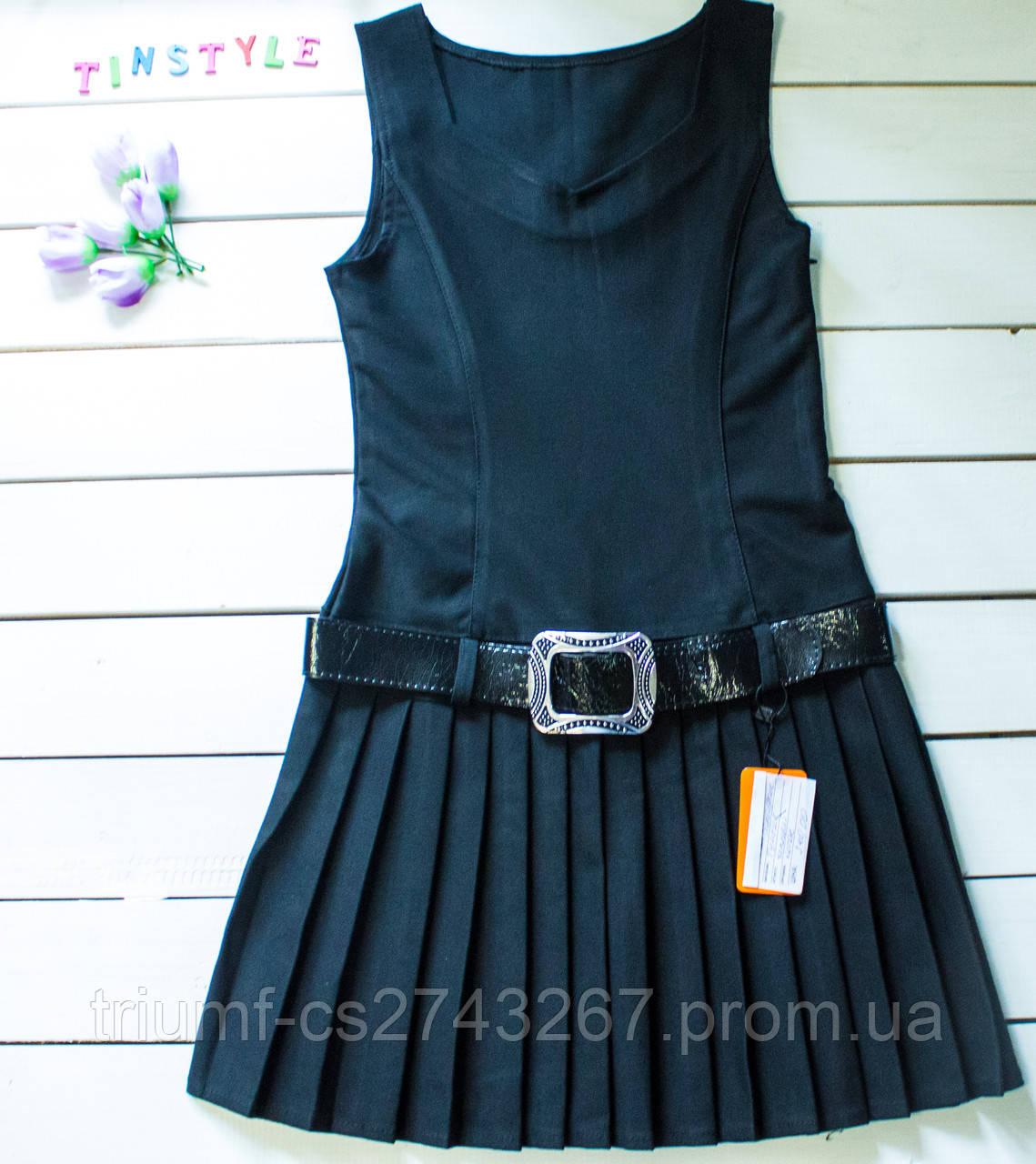 98b2d40f5ce Очаровательный школьный сарафан для девочки рост 140-146 см - Интернет - магазин