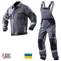 СПЕЦОДЯГ - СПЕЦОДЕЖДА - Рабочая одежда - Костюм рабочий (куртка и полукомбинезон) - 100% Cotton - AURUM