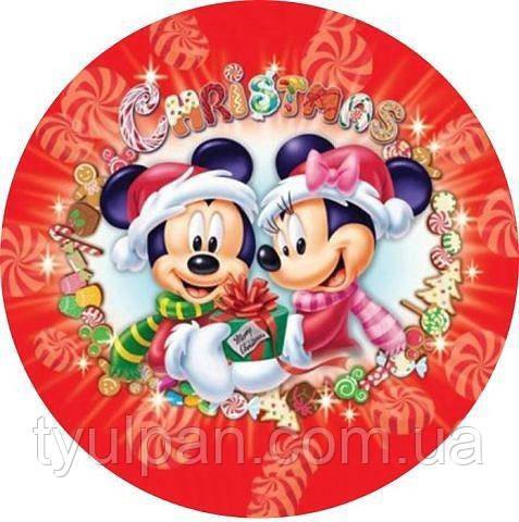 Вафельная картинка Новогодняя
