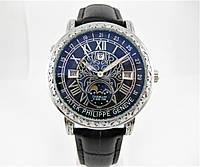 Часы Patek Philippe Sky Moon Tourbillon Quartz Ref. 6002 Silver/Black/Black. Replica: ААА.