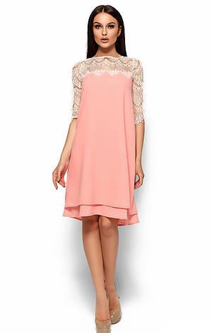 Женское платье Рима, персик, р.42-48, фото 2