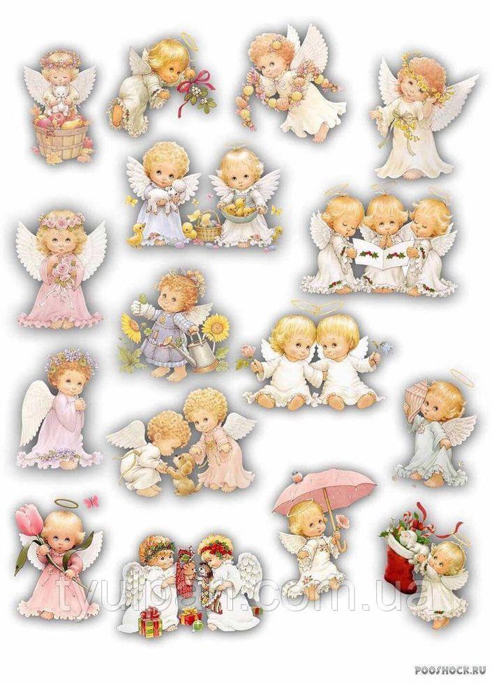 Вафельная картинка пасха ангелочки