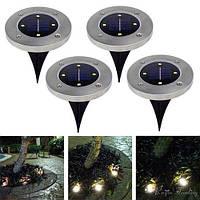 Светильник на солнечных батареях Disk lights - 4 шт в комплекте