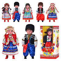Лялька M2132 UI Діти України, Катеринка, 5 видів, Олесь, 3 види, україномовна, музична, в коробці, 49-24-12 см