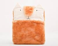 Чехол для samsung tab пушистый ручной работы кролик оранжевый, фото 1