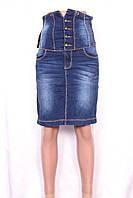 Женская джинсовая юбка c корсетом