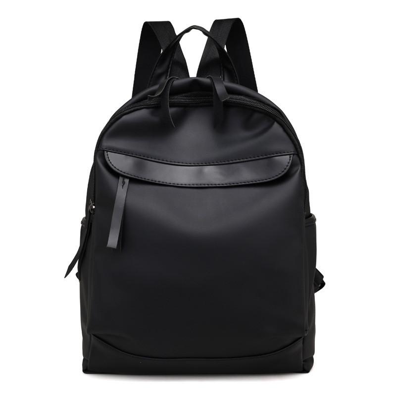 Женский стильный городской рюкзак черный из ткани купить по выгодной ... a1cb5d540c1