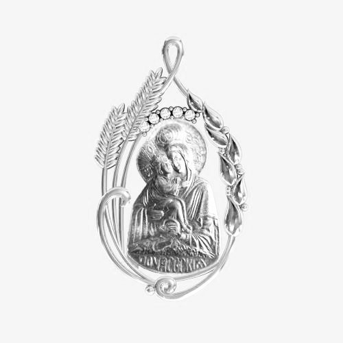 Ладанка серебряная Богородица ЛП-96