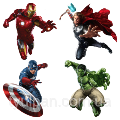 Вафельная картинка супер герои Мстители: Война бесконечности