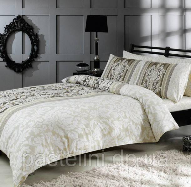 TAC Евро комплект постельного белья сатин Hazel gri