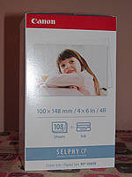 Фотобумага для термосублимацыонных принтеров Canon комплект бумаг с катриджом KP 108IN