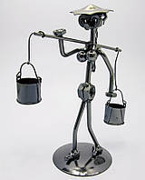 Техно-арт статуэтка Девушка с коромыслом, (20,5х12,5х8,5см)