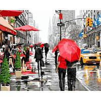 """Картина по номерам """"Дождь в Нью-Йорке"""" 40х50см, С Коробкой"""