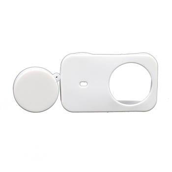 Силиконовый защитный чехол + крышка объектива для Xiaomi Mijia Mini 4K белый