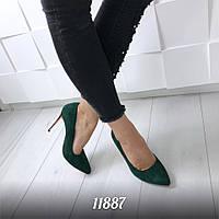 Замшевые туфли лодочки 11887 (ЯМ)