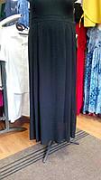 Спідниця чорного кольору в підлогу з штапелю