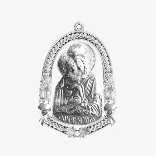 Ладанка серебряная Богородица ЛП-101