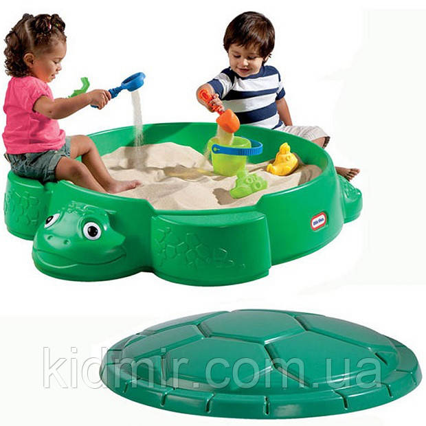 Песочница Черепаха с кришкой Little Tikes 631566