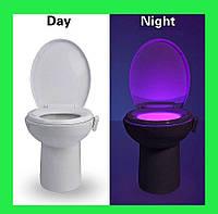 LED подсветка для унитаза с датчиком движения и света!Опт