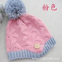 Теплые шапки одинарная вязка для девочки весна-осень