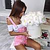 Комбинезон Ткань: джинс Цвет: белый,голубой,розовый 🇨🇳 Китай 🇨🇳 гн №422
