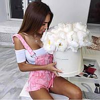 Комбинезон Ткань: джинс Цвет: белый,голубой,розовый 🇨🇳 Китай 🇨🇳 гн №422, фото 1