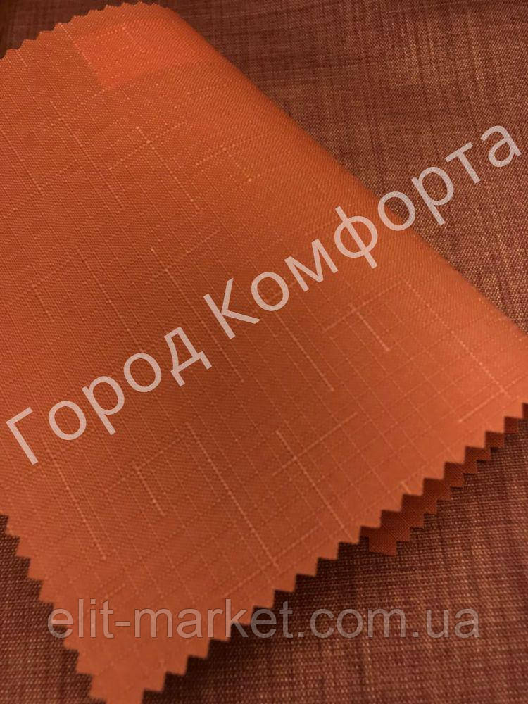 Рулонные шторы Лен морковный
