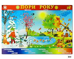 """Навчальний плакат """"Пори року"""" (""""Пори року"""")"""