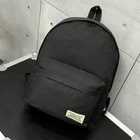 Женский рюкзак черный тканевый вместительный, фото 1