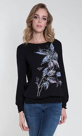 Женская блуза Ballao Zaps черного цвета. Коллекция осень-зима 2018-2019