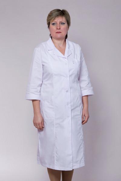 Жіночий медичний халат білий