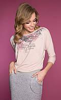 Женская блуза Cabras Zaps розового цвета. Коллекция осень-зима 2018-2019, фото 1