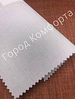 Рулонная штора Лен белая, фото 1