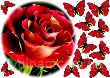 Вафельные картинки букеты  цветы опт и розница!