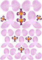Вафельные картинки для вафельной флористики орхидея розовая